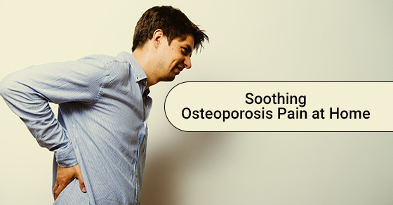 Young Man Feeling Osteoporosis Pain at Home